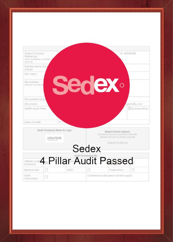 Sedex 4P Certificate