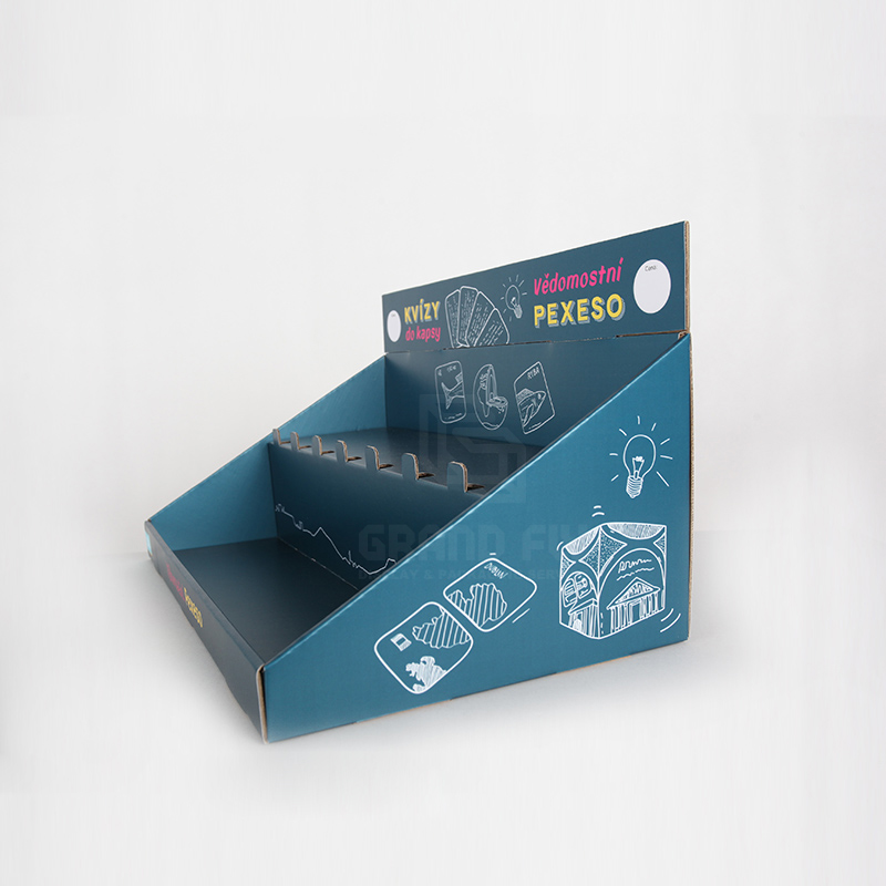 Cardboard Display Box with Tier for Game Card & Toy-3