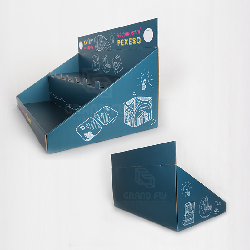 Cardboard Display Box with Tier for Game Card & Toy-4
