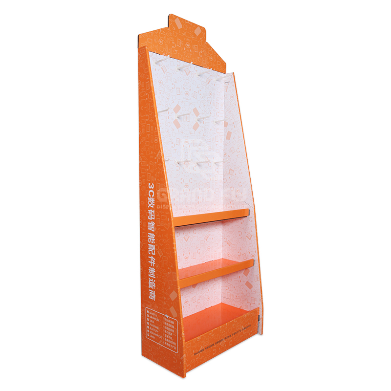 Cardboard Display Stand with Hook & Tier for Digital Accessories-1