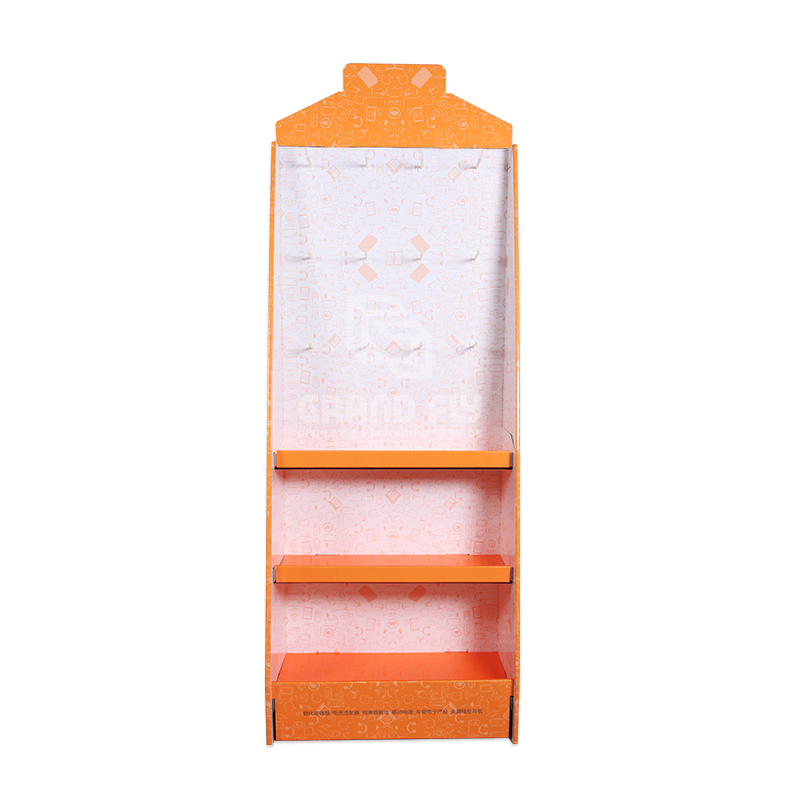 Cardboard Display Stand with Hook & Tier for Digital Accessories-2