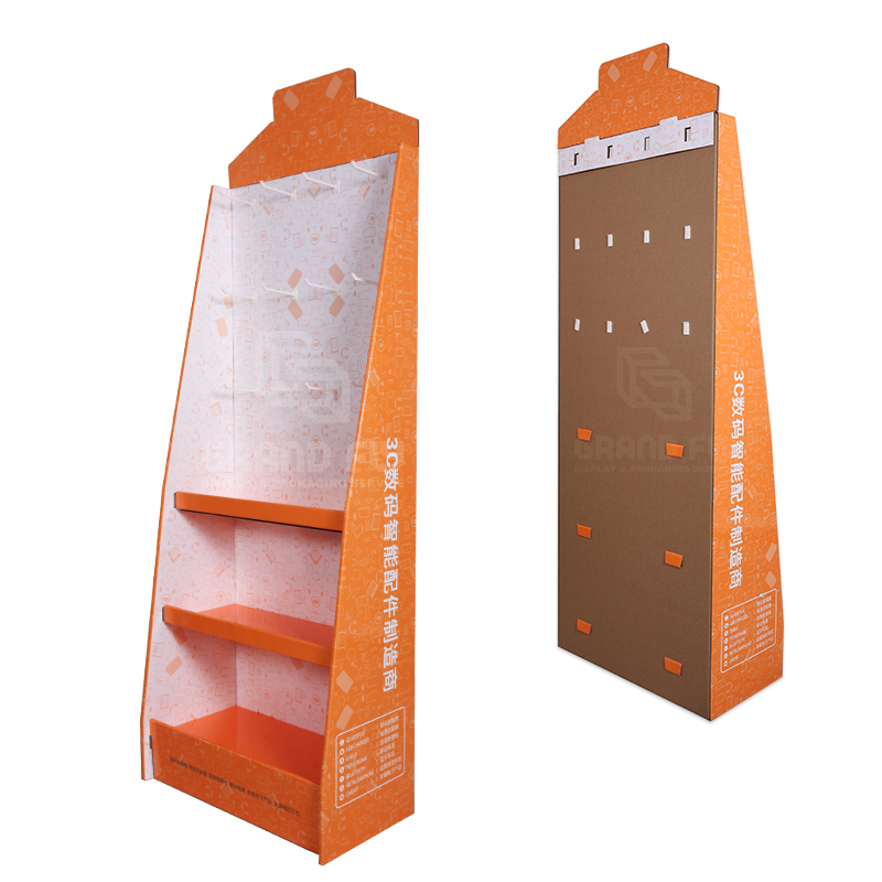 Cardboard Display Stand with Hook & Tier for Digital Accessories-4