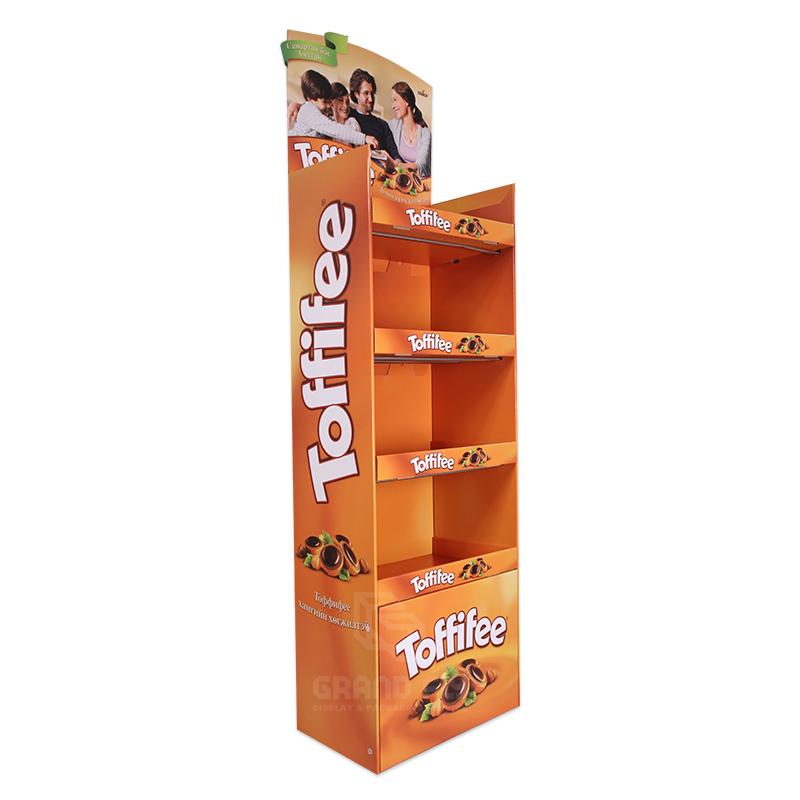 Cardboard Floor Display Rack for Toffee Candy-1