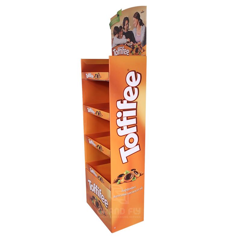 Cardboard Floor Display Rack for Toffee Candy-3