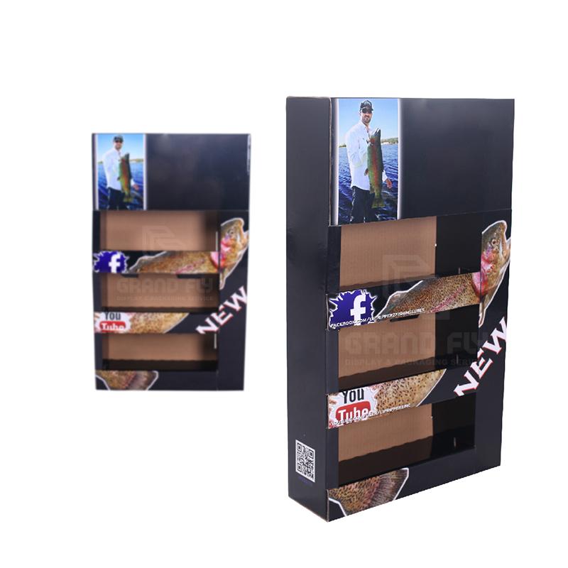 Cardboard Foldable POP Sidekick Display with Tier-3