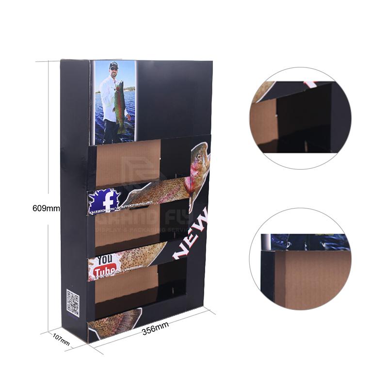 Cardboard Foldable POP Sidekick Display with Tier-4