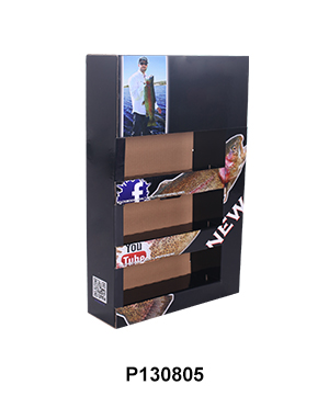 Cardboard Foldable POP Sidekick Display with Tier