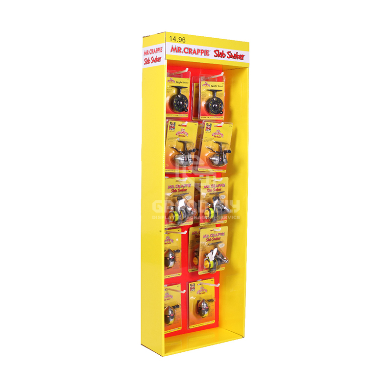 Cardboard POP Sidekick Display with Hooks for Retail Products-1