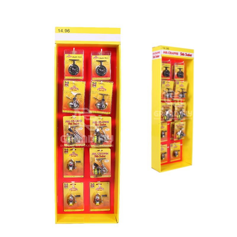 Cardboard POP Sidekick Display with Hooks for Retail Products-2