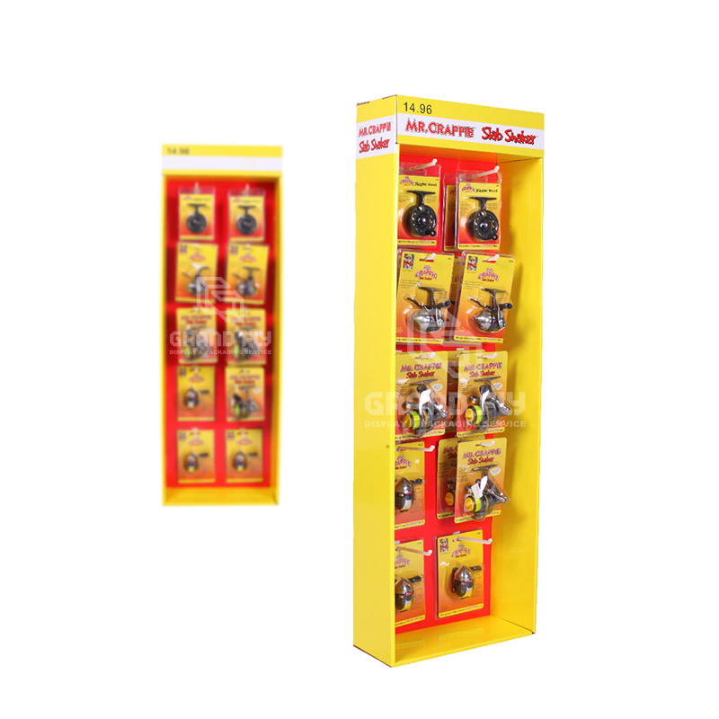 Cardboard POP Sidekick Display with Hooks for Retail Products-3