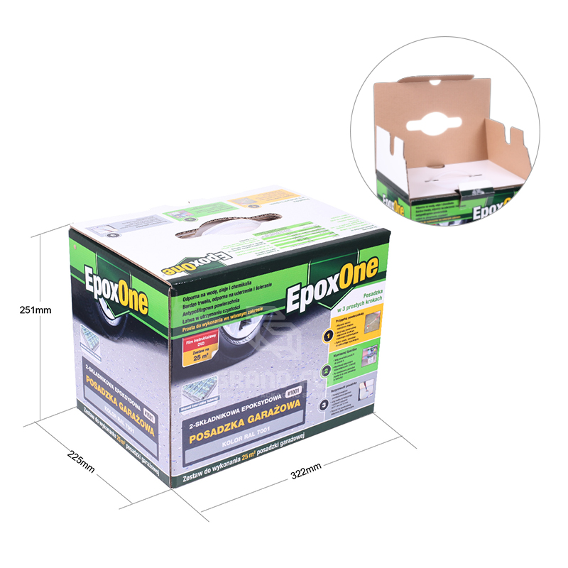 Cardboard Packaging Box with Plastic Handle-4