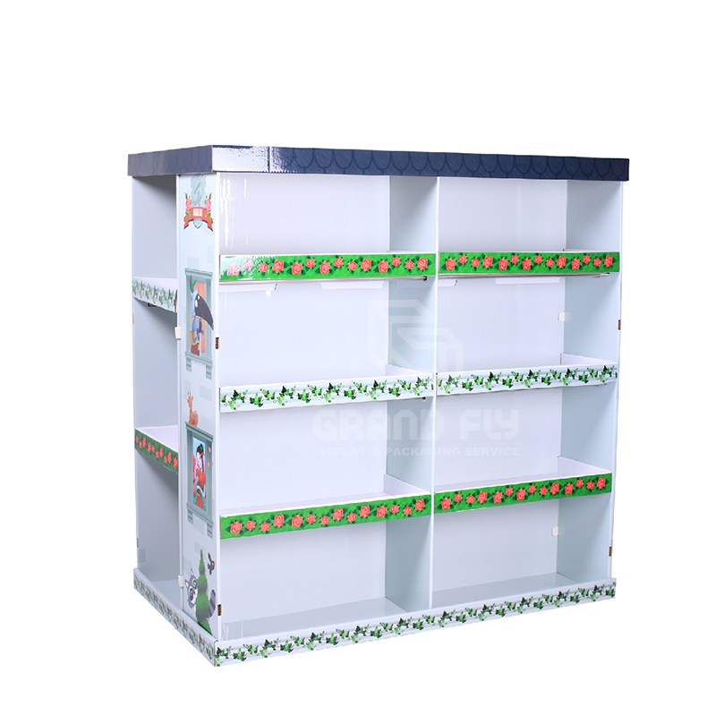 Cardboard Pallet Display Stand for Children's Book-1