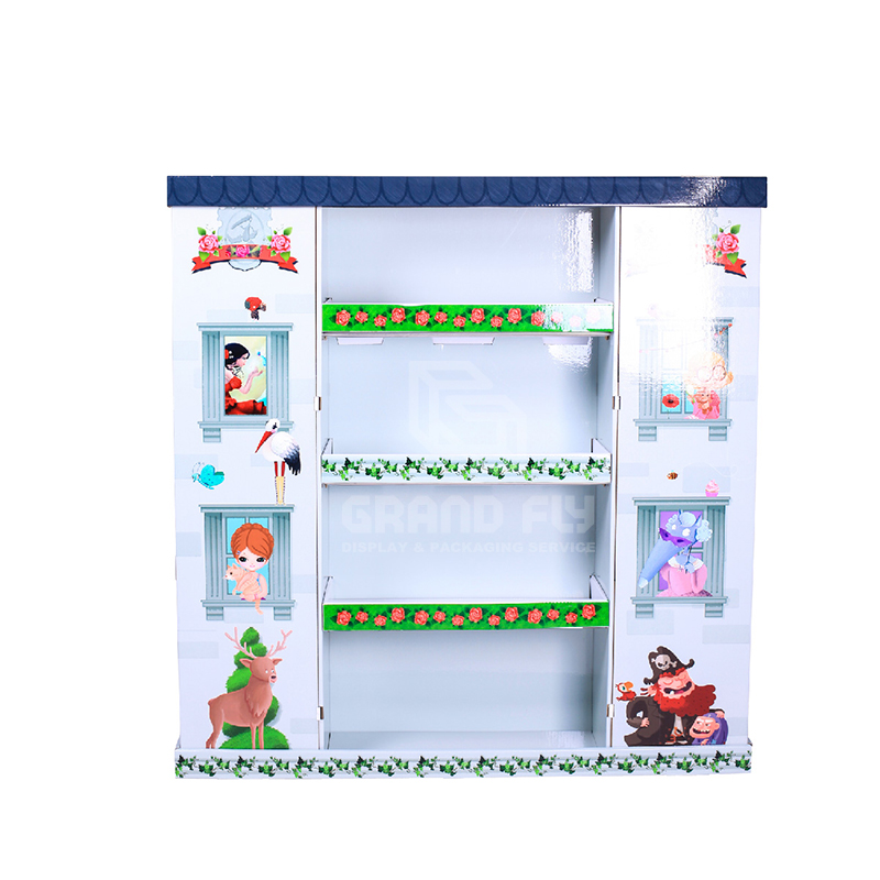 Cardboard Pallet Display Stand for Children's Book-2