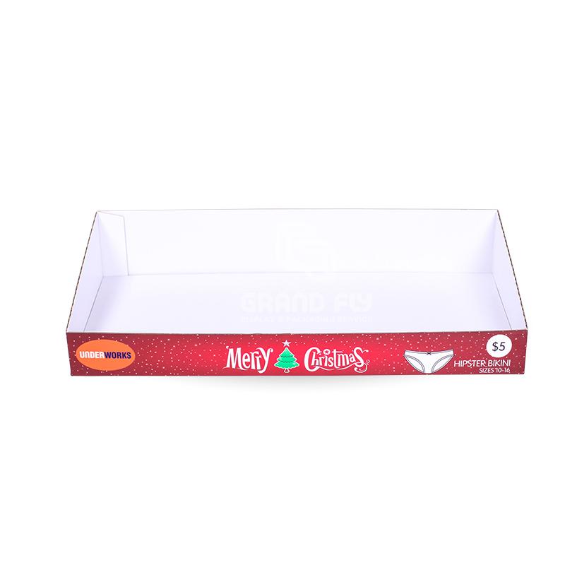 Christmas Promotion Shelf Ready Tray for Underwear-2