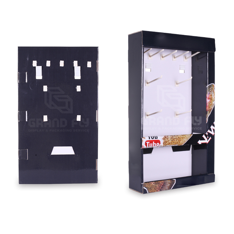 Corrugated Advertising Sidekick Display with Peg Hooks-3