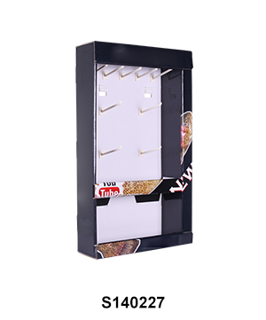 Corrugated Advertising Sidekick Display with Peg Hooks