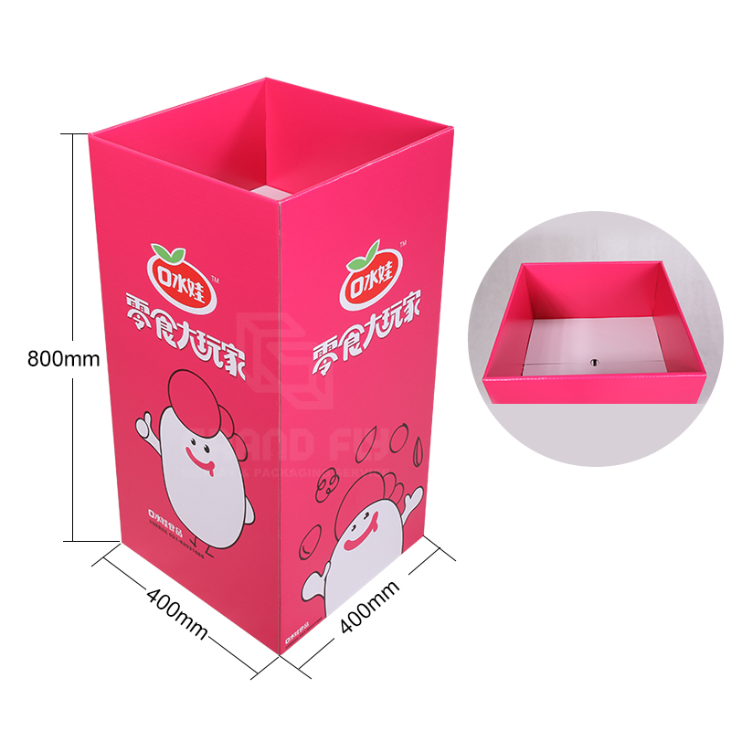Corrugated Display Square Dump Bins for Snack-4