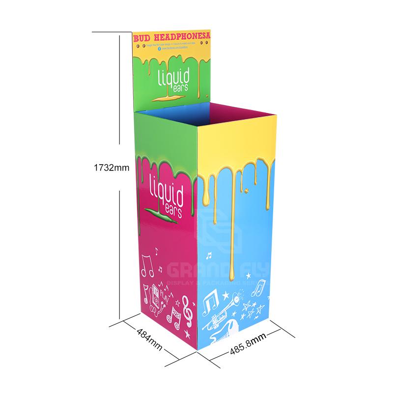 Corrugated Display Square Dump Bins with Header-4