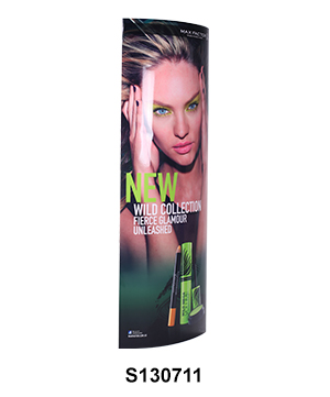 Cosmetics POP Elliptical Column Display