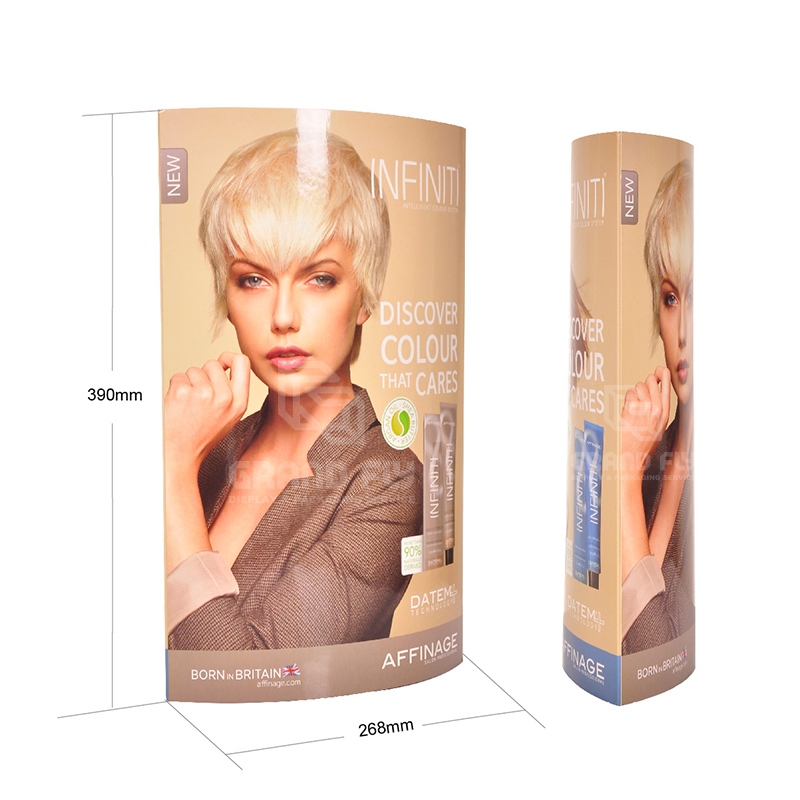 Eye-catching Counter Top Elliptical Column Display Standee-3
