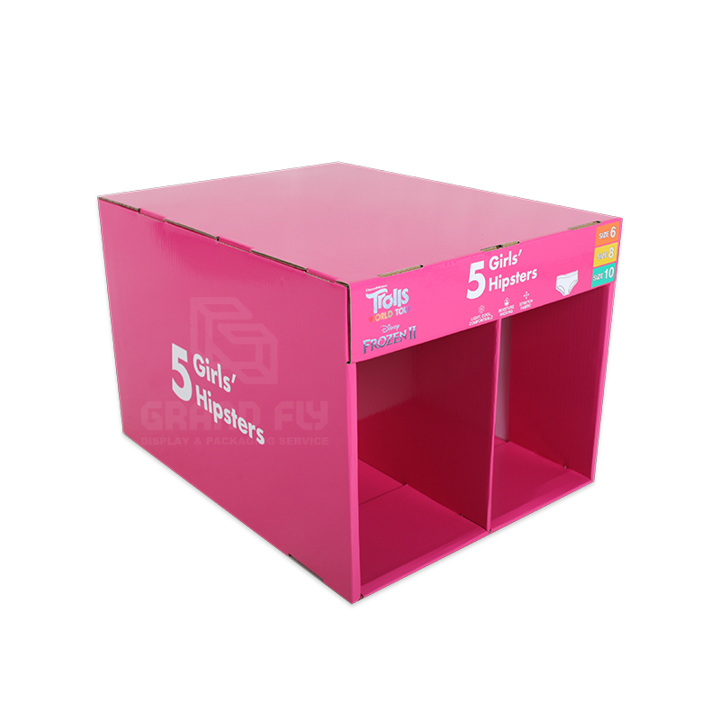 Stable Corrugated Stackable Display for Underwear-1