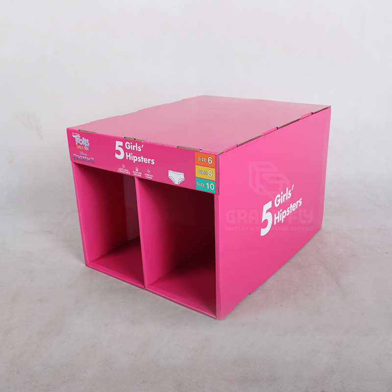 Stable Corrugated Stackable Display for Underwear-3