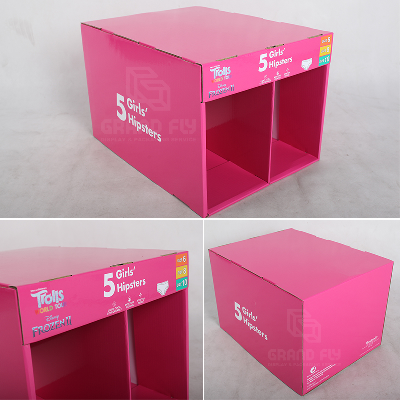 Stable Corrugated Stackable Display for Underwear-4