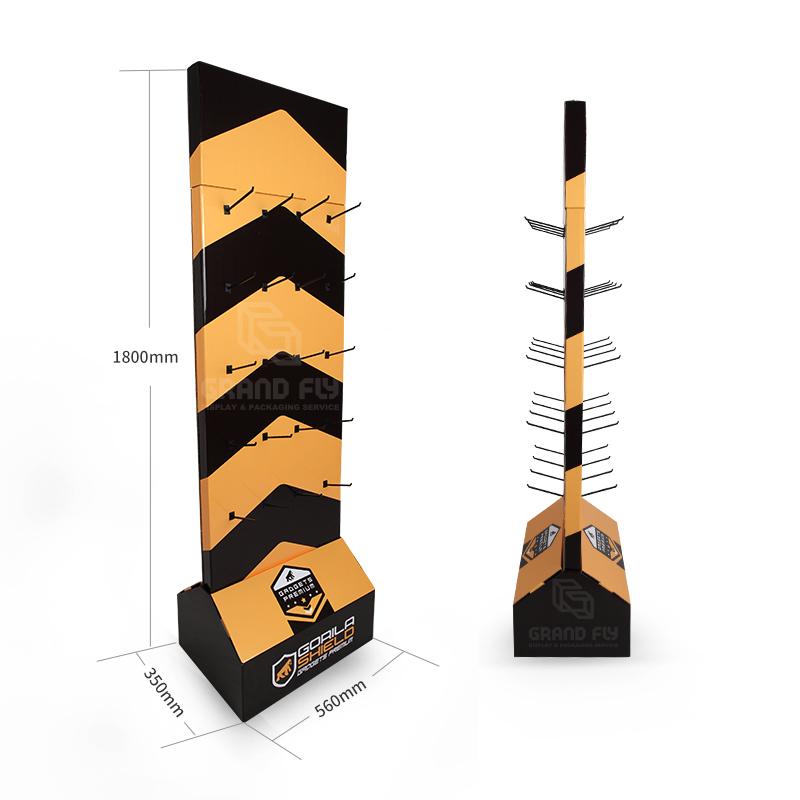 Two Side Corrugated Floor Display Hook Display-4