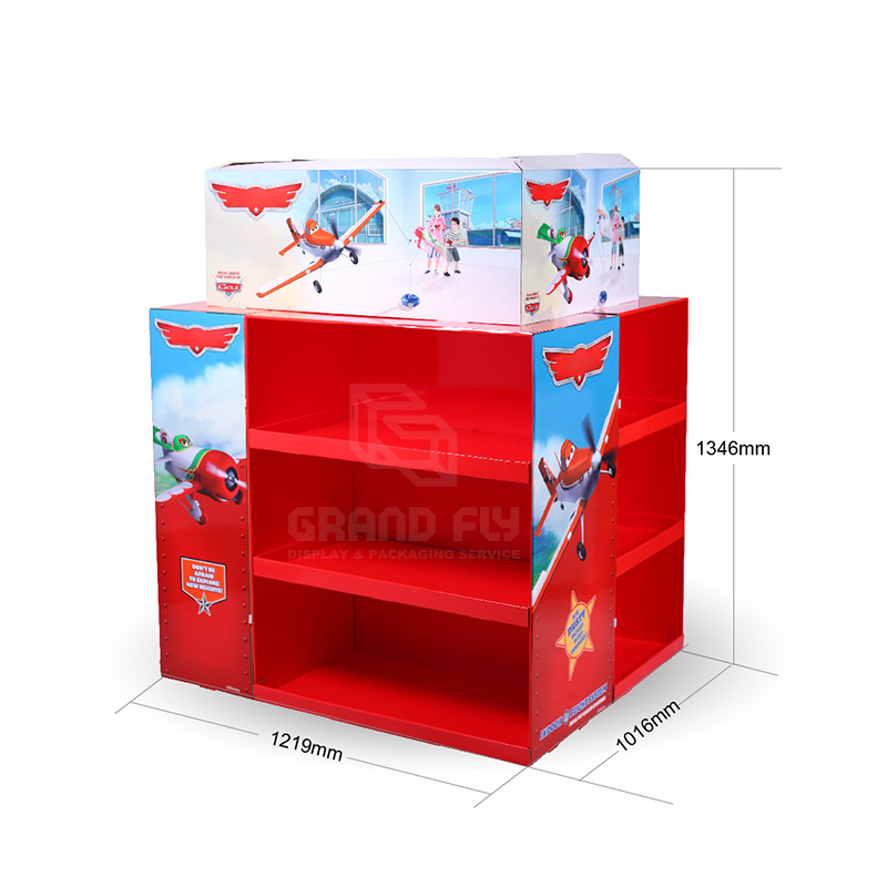 Walmart Cardboard Full Pallet Display Stand for Toy-4