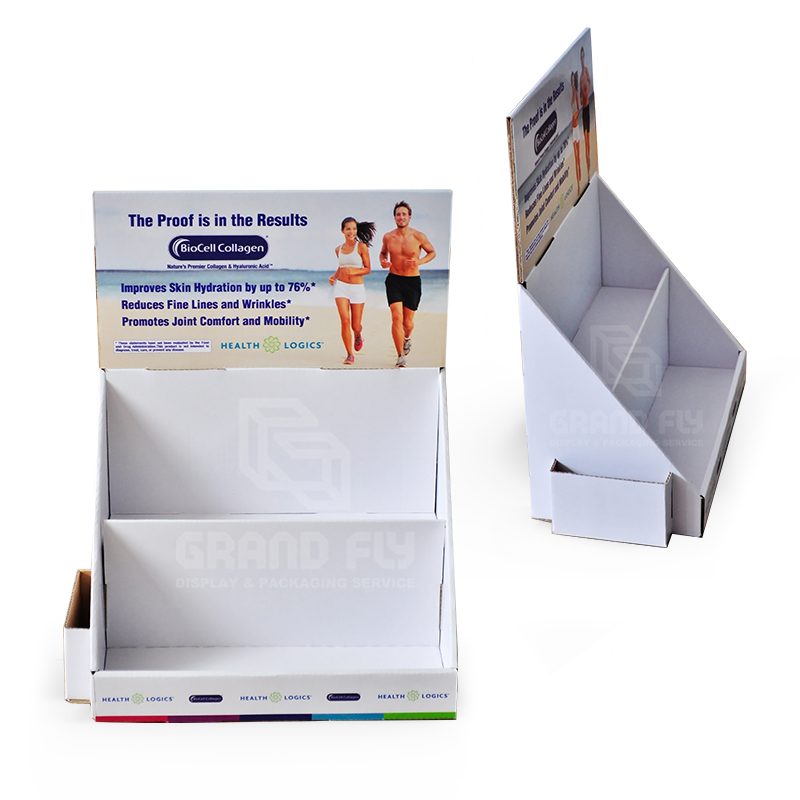 2 Tier Countertop Display for Health Care Products-3