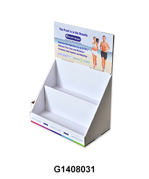 2 Tier Countertop Display for Health Care Products