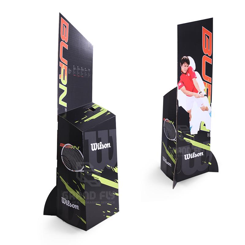 Cardboard FSDU Advertising Display Stand for Tennis Racket-2
