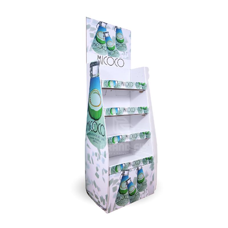 Cardboard Floor Display Rack for Drinks & Beverages-1