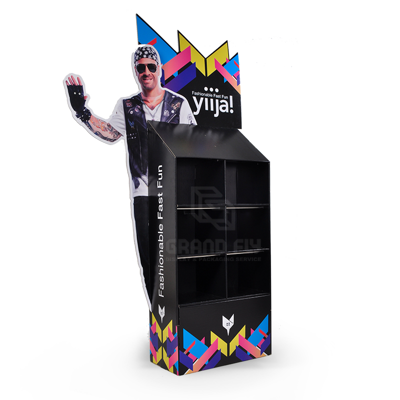 Cardboard Floor Display Stand with 3D Life-Side Side Panel-2