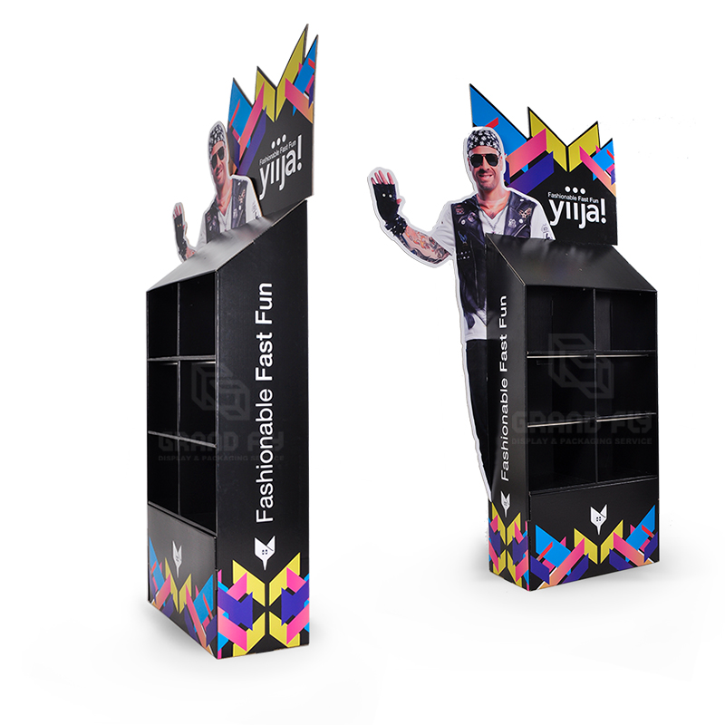 Cardboard Floor Display Stand with 3D Life-Side Side Panel-4