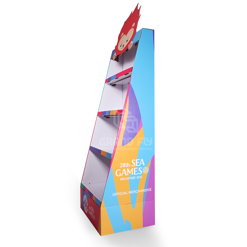 Cardboard POP Merchandise Display Shelf for Gift Products-3
