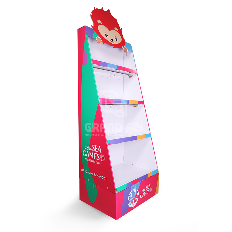 Cardboard POP Merchandise Display Shelf for Gift Products-1