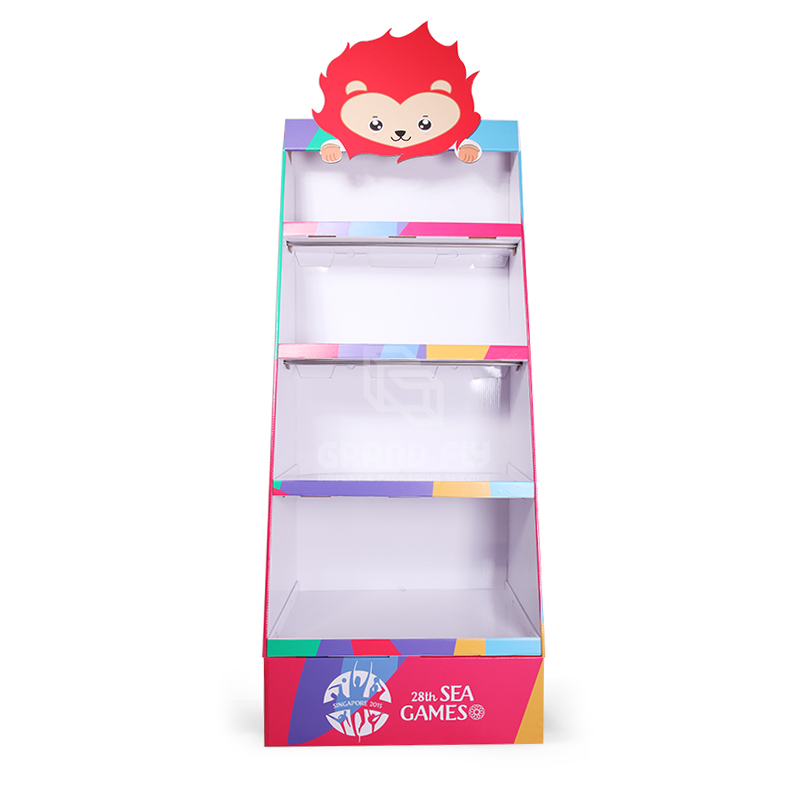 Cardboard POP Merchandise Display Shelf for Gift Products-2