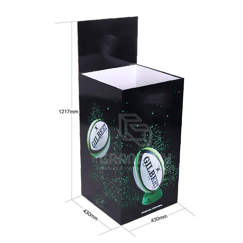 Cardboard POS Display Dump Bins for Rugby Football-4