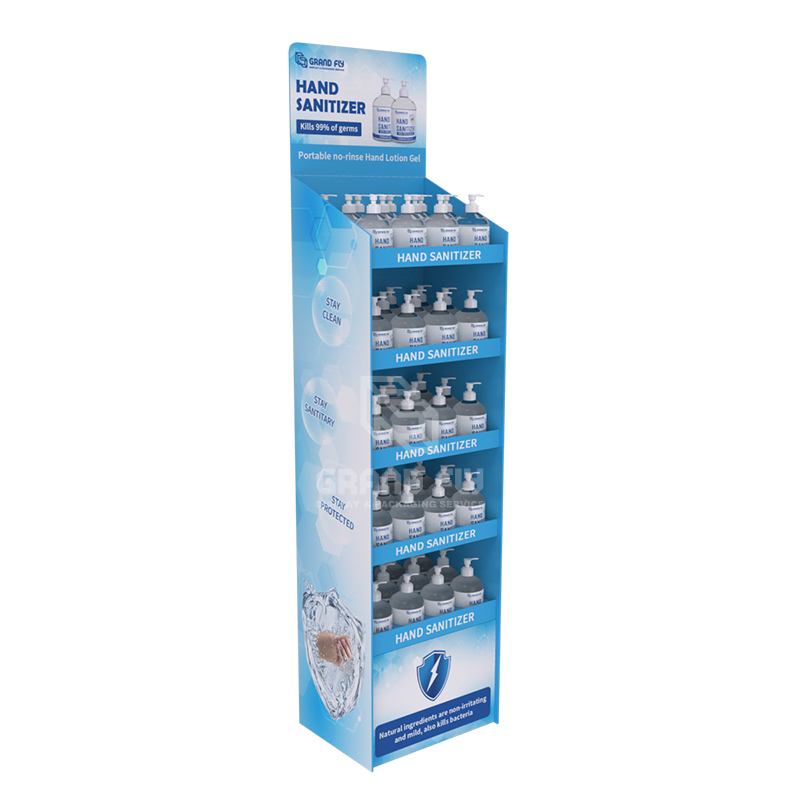 Cardboard Temporary POS FSDU Hand Sanitiser Retail Display Stand Units-1