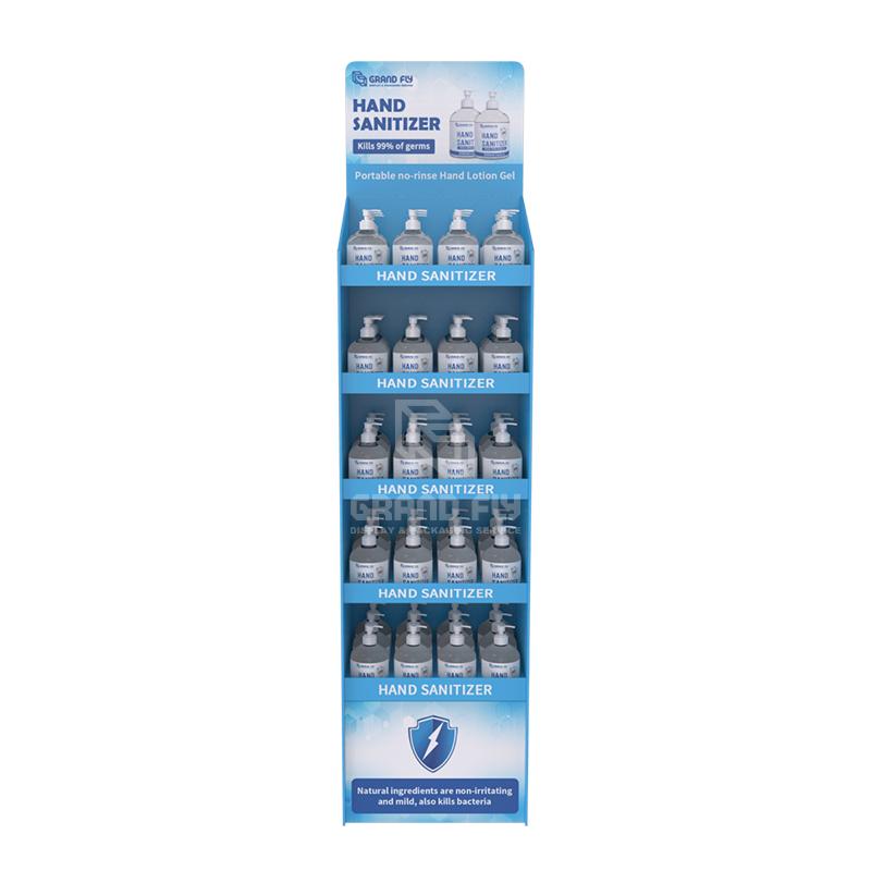 Cardboard Temporary POS FSDU Hand Sanitiser Retail Display Stand Units-2