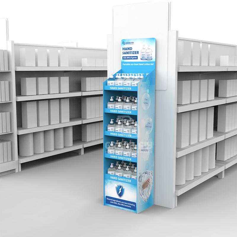 Cardboard Temporary POS FSDU Hand Sanitiser Retail Display Stand Units-4
