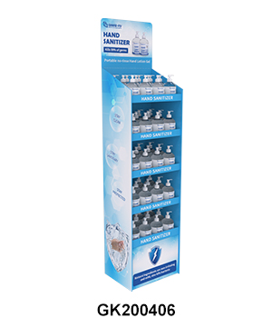 Cardboard Temporary POS FSDU Hand Sanitiser Retail Display Stand Units