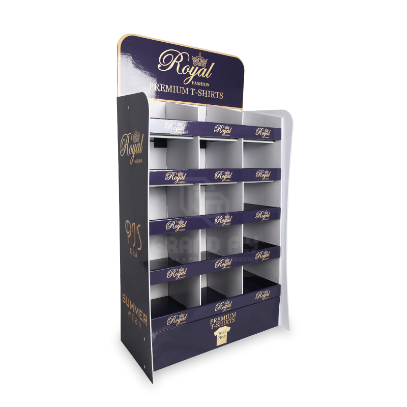 Clothing & Garment POS Shelf display with Compartments-1