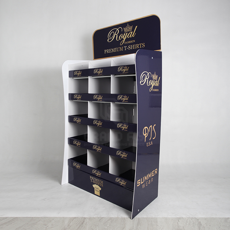 Clothing & Garment POS Shelf display with Compartments-3