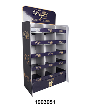 Clothing & Garment POS Shelf display with Compartments