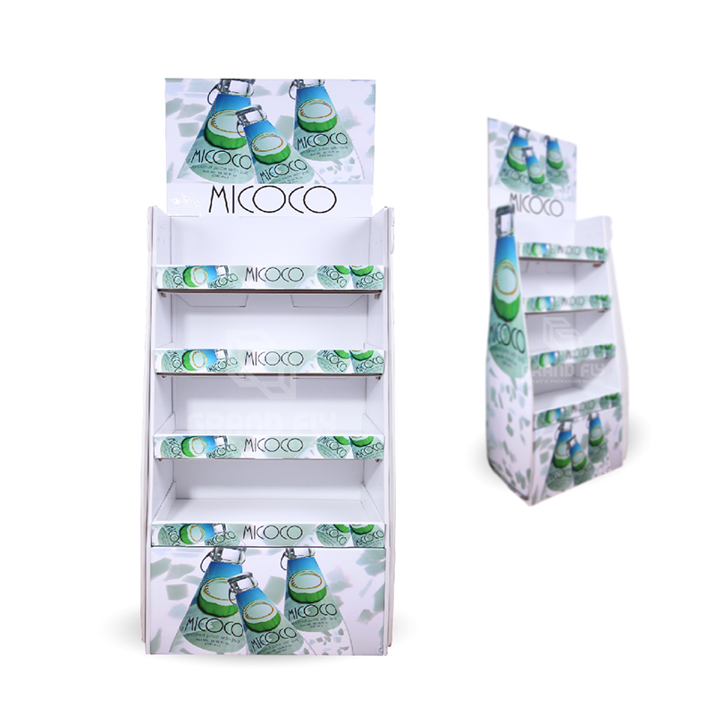 Corrugated Cardboard Floor Display Rack for Drinks & Beverages-2