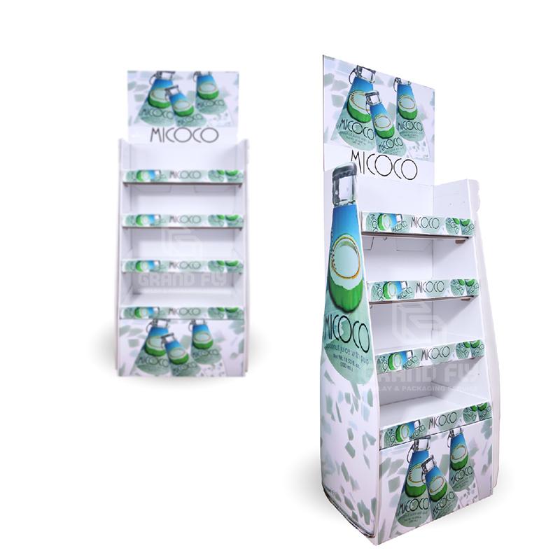 Corrugated Cardboard Floor Display Rack for Drinks & Beverages-3