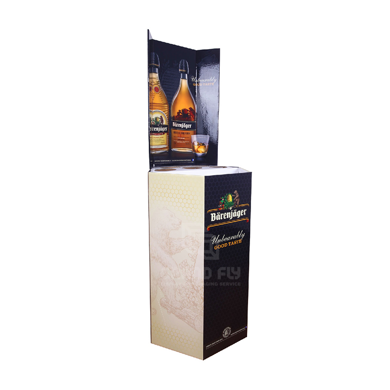 Corrugated Retail Display Bin for Wine & Whisky-1