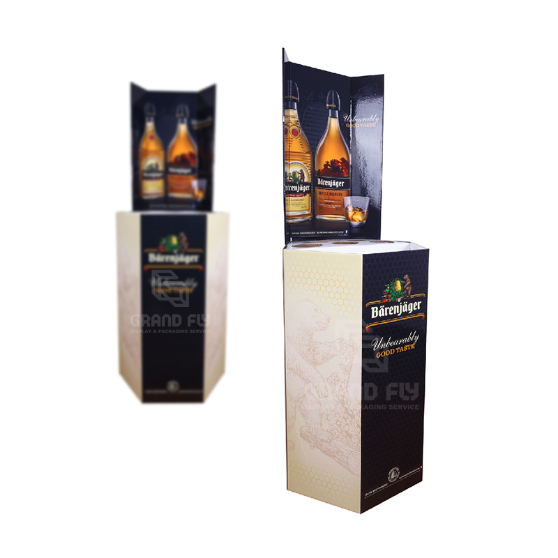 Corrugated Retail Display Bin for Wine & Whisky-3